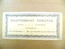 1889 Shaftesbury Theatre Programme- THE MIDDLEMAN by Henry A Jones; 27/8/1889