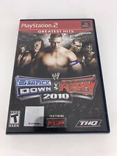 WWE Smackdown Vs. Raw 2010 Sony Playstation 2 PS2 Game & Case, No Manual
