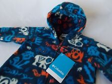 NWT Columbia FIRESIDE CUDDLE BUNTING Fleece Suit BLUE Infant 3-6 Months  XN0007