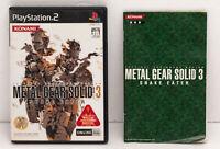 METAL GEAR SOLID 3 PS2 Playstation 2 Game Import Japan KONAMI NTSC J