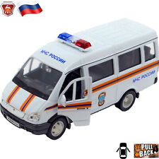 Diecast Vehicles Scale 1:36 GAZ 3221 Gazel Russian EMERCOM Toy Cars