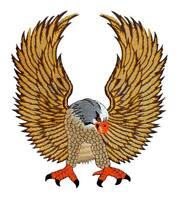 #09 Adler Eagle Backpatch Rückenaufnäher Aufnäher Groß Biker Kutte 25 x 28 cm
