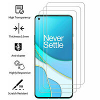 3 Pack For OnePlus 9/9 Pro/Nord N10 Transparent Tempered Glass Screen Protector