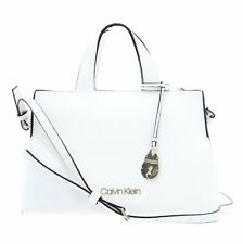 Calvin Klein Neat Tote Handtasche Umhängetasche Tasche White Weiß Neu
