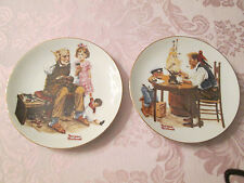 "Norman RockwellLimited Edition Plates (2) ""The Cobbler"" & ""For A Good Boy"""