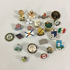 Junk Drawer Pin Lot Canadian Cities Assorted Group Pins Tags Badges Lot One
