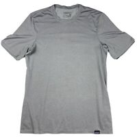 Patagonia Men's Small Daily Capilene Base Layer Gray Short Sleeve UPF Stretch S