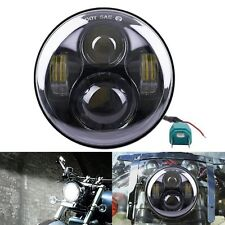 "For  Harley 5-3/4"" Black Motorcycle LED Headlights Projector Head Lamp"