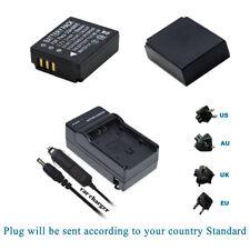 2X Batetry for  Panasonic Lumix DMC-TZ1 DMC-TZ2 DMC-TZ3 DMC-TZ4 DMC-TZ5 +Charger