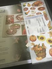 Creative Memories Colonial Photo Mounting Paper Plus Thankgiving Stickers