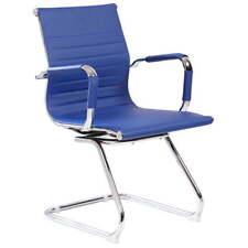 Sedia Poltrona Attesa da Ufficio In Eco Pelle Archimede Dallas Blu