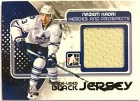 2010-11 ITG Heroes & Prospects Game-Used Jersey Black Nazem Kadri Vault Blue 1/1