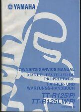 (23A) REVUE TECHNIQUE MANUEL ATELIER MOTO YAMAHA TT-R125 (P) / LC et TT-R125LW P