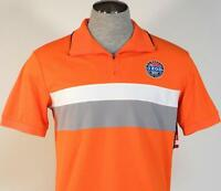 Izod USA Malibu Cup Nationals Orange 1/4 Zip Short Sleeve Polo Shirt Men's NWT
