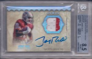 JERRY RICE 2012 TOPPS FIVE STAR VETERAN AUTOGRAPHED PATCH RAINBOW BGS 8.5/AU 9
