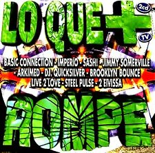 CDx2 - Lo Que + Rompe (VARIOUS TECHNO & DANCE) AS NEW STORE STOCK