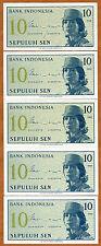 LOT, Indonesia, 5 x 10 Sen, 1964, P-92, UNC