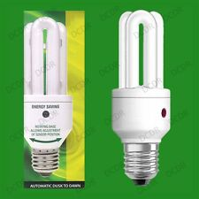 2x 15W LOW ENERGY DUSK TILL DAWN SENSOR SECURITY LAMP NIGHT LIGHT BULB E27 SCREW