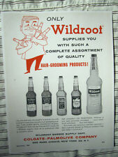 Vintage 1956 Advertising Barber All Varieties Wildroot Hair Tonics Color Sign/Ad