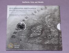 2014 ROYAL MINT SILVER 1/4 OUNCE BRITANNIA COIN FOLDER - SS GAIRSOPPA