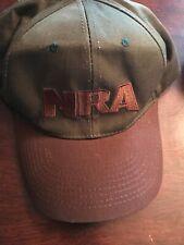Vintage NRA Mens Hat Green & Brown Used