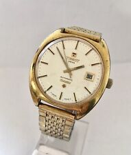 1970's Vintage Gold Plated  Stainless Steel Tissot Automatic Seastar