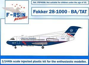 F-RSIN Models 1/144 FOKKER 28-1000 British Airways & Transcontinental Air Transp