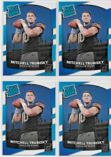 (4) CARD LOT 2017 MITCHELL TRUBISKY RC DONRUSS RATED ROOKIE #328 CHICAGO BEARS