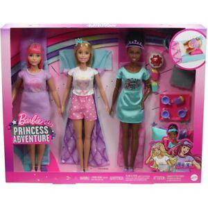 Barbie Princess Adventure Slumber Party Sleepover w/ Daisy, Nikki & Accessories.