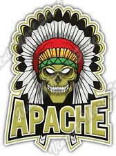"""Indian Chief Head Skull Apache Angry Native Car Bumper Vinyl Sticker Decal 4""""X5"""""""