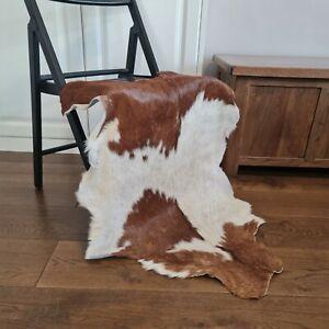 Goat skin Rug, Hide, Pelt, Animal Skin, Rare, Cowhide   Brown & White