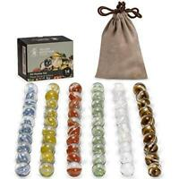 Yellow Mountain Imports 60 Pieces Translucent Chinese Checkers Glass Marbles