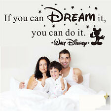 If You Can Dream It You Can Do It Vinyl Art Wall Sticker Decals Word Quote Decor