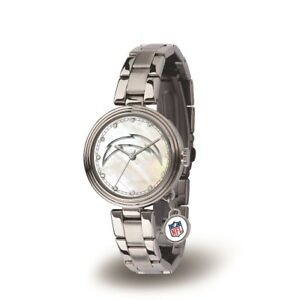 Los Angeles Chargers Charm Watch with Stainless Steel Band