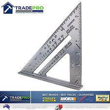 """Aluminium Triangle Builders Right Angle 180mm 7"""" PRO Quick Cut Square Degrees"""