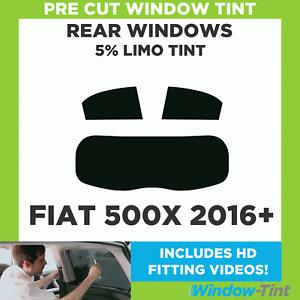 Pre Cut Window Tint - Fiat 500X 2016 5% Limo Rear