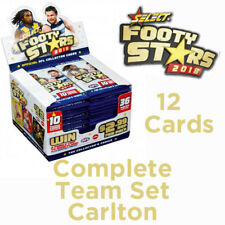 2018 AFL SELECT FOOTY STARS CARDS COMPLETE TEAM SET - CARLTON