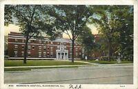 Bloomington Illinois~Mennonite Hospital~1936 Postcard
