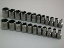 """NEW Craftsman 23pc 1/4"""" Metric/mm STD/SAE Dual Marked Laser Socket Wrench Set"""