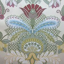 ROBERT ALLEN LARGE DAMASK UPHOLSTERY FABRIC FLORAL ARRAY/HONEYSUCKLE 11.75 YARDS