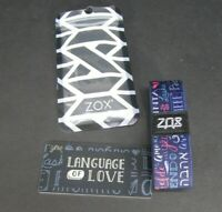 ZOX Silver Strap LANGUAGE OF LOVE Wristband with Card Reversible