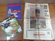 GUIDE COUPE DU MONDE FOOTBALL FRANCE 1998 + L EQUIPE No SPECIAL DU 9 Juin 1998