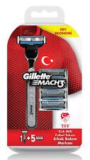 Gillette Mach 3 Rasierer mit 5 Klingen