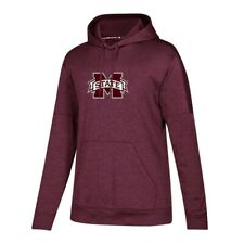 Mississippi State Bulldogs NCAA Adidas Women's Maroon  Pullover ClimaWarm Hoodie