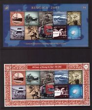 New Zealand MNH 2001 Mail Delivery Belgica 2 sheets mint stamps