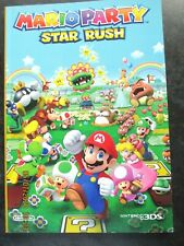 Mario Party Star Rush Nintendo 2DS / 3DS NOTEBOOK - NOT GAME - Unused