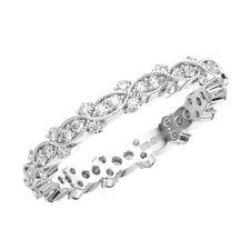 3mm Pave Set Round Brilliant Cut Diamonds Full Eternity Ring in 9K White Gold