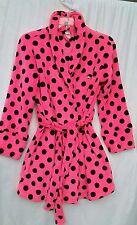 Victoria Secret Pink Plush Fleece Robe New Polka Dot Limited Edition NWOT