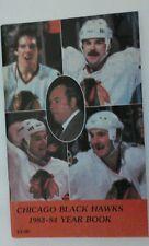 Vintage NHL 1983-84 CHICAGO BLACKHAWKS Media Guide Yearbook RARE Hockey SAVARD