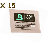 NEW Boveda 8 gram 69% Humidipack - 2 Way Humidity Control (15 x 8g)